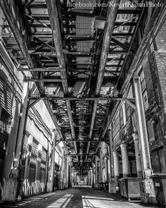 "Chicago Photography Print ""Under the El Tracks"" 8x10 urban photo"