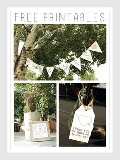 Today's free rustic wedding printable is like one stop shopping! This amazing printable set from Paper & Dots includes a Mr. & Mrs. Banner, Favor Tags and even Table Numbers. We are so pleased to be able to offer you these fun rustic wedding printables thanks in large part to our collaborator on this project, Paper & Dots. Click to download the banner, favor tags and table numbers. Table Numbers  Favor Tags The Banner