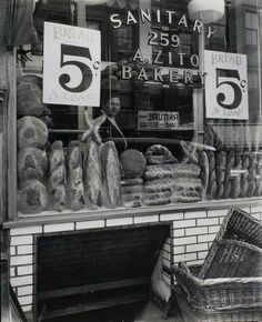 Bleeker St. Bread Store, Manhattan. 1930's