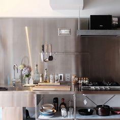 男性の、1R、一人暮らしの「キッチン」についてのインテリア実例