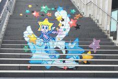 ソラカラちゃんの階段アート