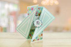 Versetztes Dreieck (436372) - Zerfetzte Spitze Shaped Cards, Triangle, Decorative Boxes, Delicate, Shapes, Lace, Design, Home Decor, Triangles
