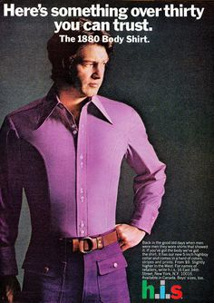 Retrospace: Vintage Style #34: Men's Fashion Ads. Apparently this shirt is a leotard to get it so tight.