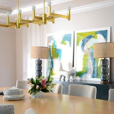 Dine in color @d2interieurs featured in #happymodern Magazine's  premier issue @artkr #happyhomehappylife #d2interieurs #diningroom by d2interieurs