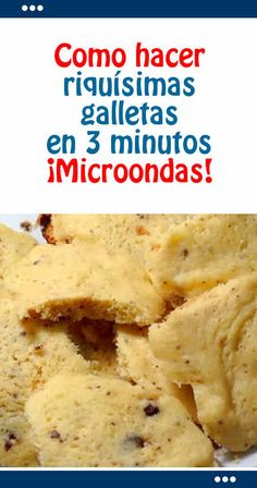 Como hacer riquísimas galletas en 3 minutos. ¡Microondas!