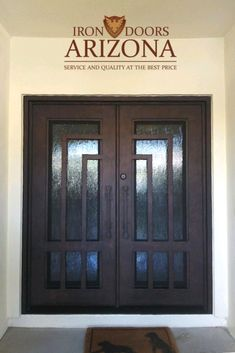 Whether you are building a new home or simply remodeling, all of our double iron doors are made to fit your entryway and can be customized to fit your home. Our doors are made from the highest quality materials and will last you a lifetime. Wrought Iron Doors, Front Entrances, Building A New Home, Curb Appeal, Remodeling, Entryway, New Homes, House Design, Warm