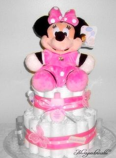 A personal favorite from my Etsy shop https://www.etsy.com/listing/225967248/diaper-cake-minnie-mouse-centerpiece