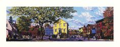 Marblehead Old town House and Market Lithograph Print Art By Rich Ahern  Built in 1727, Marblehead's Old Town House provided a space for many of Massachusetts's earliest revolutionaries, such as Elbridge Gerry and John Glover, to debate the virtues of American independence from Great Britain.