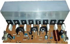 Projeto de amplificador de 500 Watts versão mono com transistores MOSFET. Audio, Diy Amplifier, Circuit Design, Susa, Circuit Diagram, Solar Power System, Home Theater, Teacher, Audio Amplifier