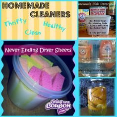 The best of the best homemade cleaners!  Tried and True recipes by over 1 million people!!  Thrifty, Healthy, Safe & Clean!!
