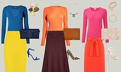 How to accessorise colour combos with delicate jewellery and versatile heels | Daily Mail Online