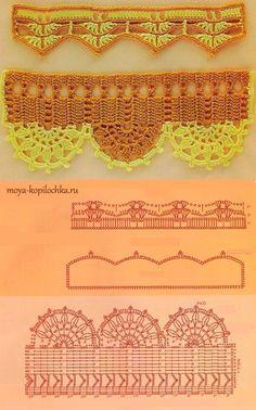 Вязаное кружево. 42 образца вязаного кружева для отделки края изделия