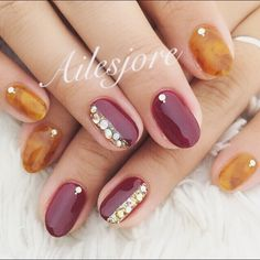 toesnails nails  foot footnail 秋冬ネイル ネイル フットネイル フットジェル fashion party ワインレッド べっ甲 red