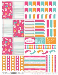 FREE Colorful Correspondence Planner Stickers by Fit Life Creative