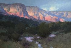 "Bill Anton | ""Canyon Twilight"", oil, 26"" x 38"""