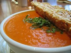 Nordstrom Cafe' Tomato Basil Soup recipe!This was a serious pregnancy craving of mine :)