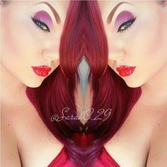 The amazingly talented Sarah Chambers used Sugarpill eyeshadows to transform herself into Jessica Rabbit! So perfectly executed!
