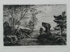 E L Montefiore : Rochers de Nainville (1875)