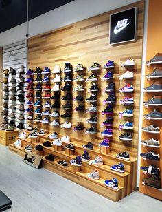 Belgrade denim display, shoe display, display ideas, shoe store design, r. Shoe Store Design, Clothing Store Design, Retail Store Design, Shoe Shop, Boutique Interior, Clothing Store Displays, Shoe Display, Shop Window Displays, Shoe Storage