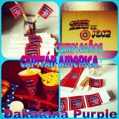 Decoración de fiesta Capitan América Snack Recipes, Snacks, Pop Tarts, Packaging, Food, The Creation, Snack Mix Recipes, Appetizer Recipes, Appetizers