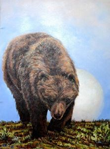 Sun Bear by Bob Rummel in the FASO Daily Art Show