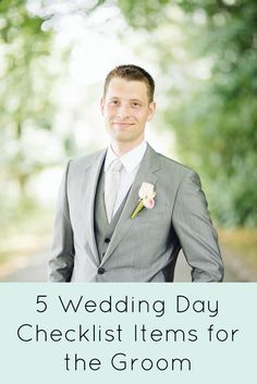 The grooms wedding day checklist is something that mustn't be overlooked when it comes to the wedding day. Here are some of our helpful tips.