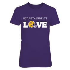 Not Just A Game. It's LOVE T-Shirt, LSU Tigers Official Apparel - this licensed gear is the perfect clothing for fans. Makes a fun gift!  The LSU Tigers Collection, OFFICIAL MERCHANDISE  Available Products:          District Women's Premium T-Shirt - $29.95 District Men's Premium T-Shirt - $27.95 Gildan Unisex T-Shirt - $26.95 Gildan Women's T-Shirt - $27.95 Gildan Unisex Pullover Hoodie - $49.95 Next Level Women's Premium Racerback Tank - $29.95 Gildan Long-Sleeve T-Shirt - $33.95 Gildan…