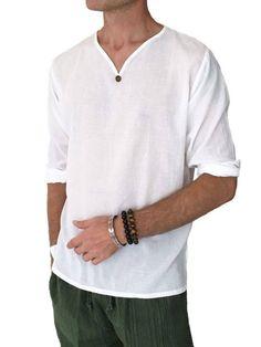 Men's Light Weight 100% Cotton Hippie Shirt