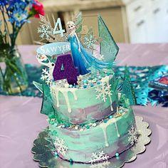 Frozen Themed Birthday Cake, Second Birthday Cakes, Frozen Theme Cake, Frozen Cake Topper, Frozen Party, Themed Cakes, 4th Birthday, Cake Toppers, Elsa Cakes