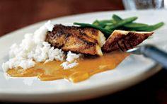 Karrysauce til kylling og basmatiris Karrysauce, kylling og ris - en herlig smagskombination som vist aldrig går af mode.