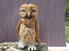 Owl Needle Felted Soft Sculpture Beatrix by goodshepherdfibers, $85.00