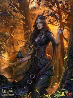 Artist: Yang Mansik aka yam8417 - Title: dark fairy reg - Card: Galla, Allure Sower