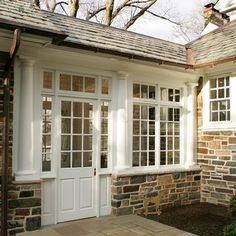 enclosed connection with windows Exterior Breezeway - traditional - garage and shed - philadelphia - Lasley Brahaney Architecture + Construction House With Porch, My House, Interior And Exterior, Exterior Design, Exterior Paint, Garage Addition, Sunroom Addition, Porte Cochere, Enclosed Porches