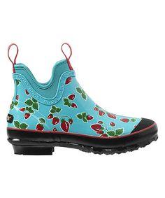 Look what I found on #zulily! Strawberry Harper Fruit Low Rain Boot - Women #zulilyfinds