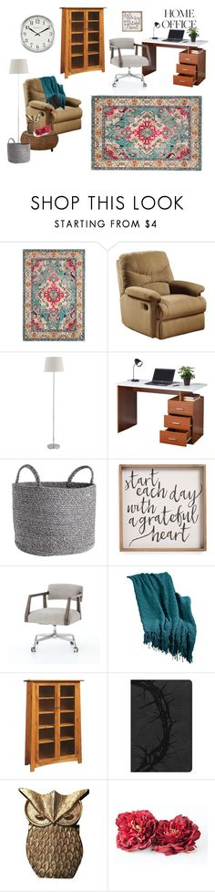 """Home Office..."" by lynnieluwho ❤ liked on Polyvore featuring interior, interiors, interior design, home, home decor, interior decorating, Safavieh, Acme Furniture, DutchCrafters and home office"
