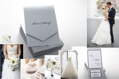Classy silver and white invitation and wedding details by Precious Invitations Wedding Stuff, Our Wedding, Wedding Ideas, Lace Invitations, Wedding Details, Layouts, Marriage, Place Card Holders, Classy