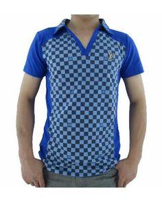 camicia Louis Vuitton Uomo Polo Cuello Azul e Venta Caliente 05de04aef2e