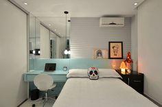 quarto solteiro Dormitórios adolescentes! : Quartos modernos por Johnny Thomsen Design de Interiores