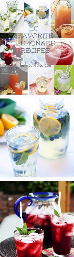 10 best lemonade recipes-perfect for summer sipping!