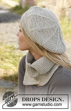 Garter stitch cowl and hat ,free pattern
