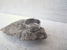 Be Your Own hero hand stamped aluminum cuff ring free by Amayeli, $10.00