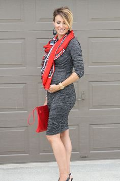 leather earrings, blanket scarf, clogs, midi dress, platforms, scarf, sunday style