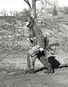 Nazi trooper with the new STG44 assault rifle.