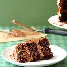 Mini Guinness Cake w Irish Frosting by chocolatemoosey