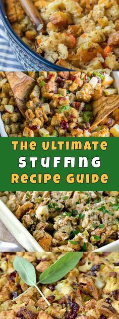 The Ultimate Stuffing and Dressing Recipe Guide for Thanksgiving and Christmas Holidays
