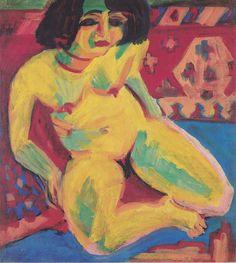 Ernst Ludwig Kirchner, Frauenakt (Dodo), 1909