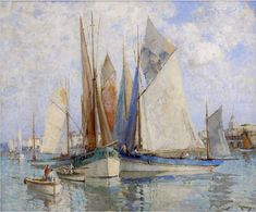 "William Lee Kankey ~ ""Concarneau, Thoniers Bretons"""