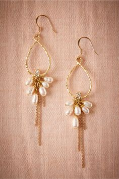 Akoya Hoops in Shoes & Accessories Jewelry at BHLDN