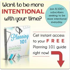 {Planning 101} How to Do Daily Planning to Be More Intentional - Intentional By Grace
