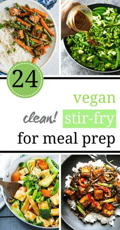 Clean Eating Diet You can make these Clean Eating Vegan Stir-Fry Recipes for Meal Prep in a breeze. They are simple to cook, delicious and full of veggies that can help you with weight loss, too! Make them ahead on Sunday for the whole week. Clean Eating Vegetarian, Vegan Clean, Vegan Meal Prep, Clean Eating Recipes, Clean Eating Snacks, Healthy Eating, Eating Habits, Clean Meals, Tasty Vegetarian